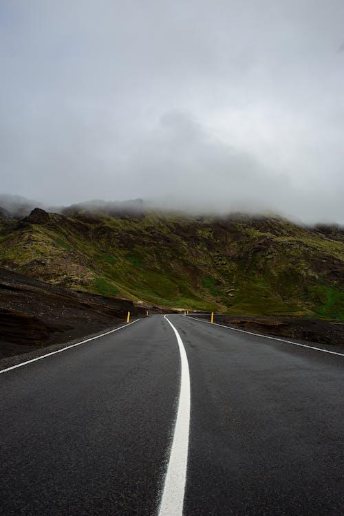 Foto stok gratis alam, angin ribut, aspal, berkabut