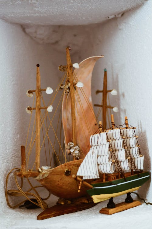 Brown Wooden Ship Model