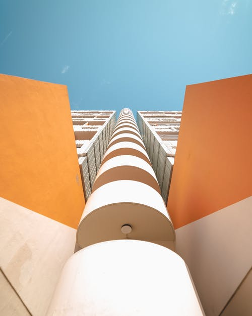 High Rise Orange and White Building