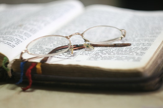 Free stock photo of school, blur, glasses, book