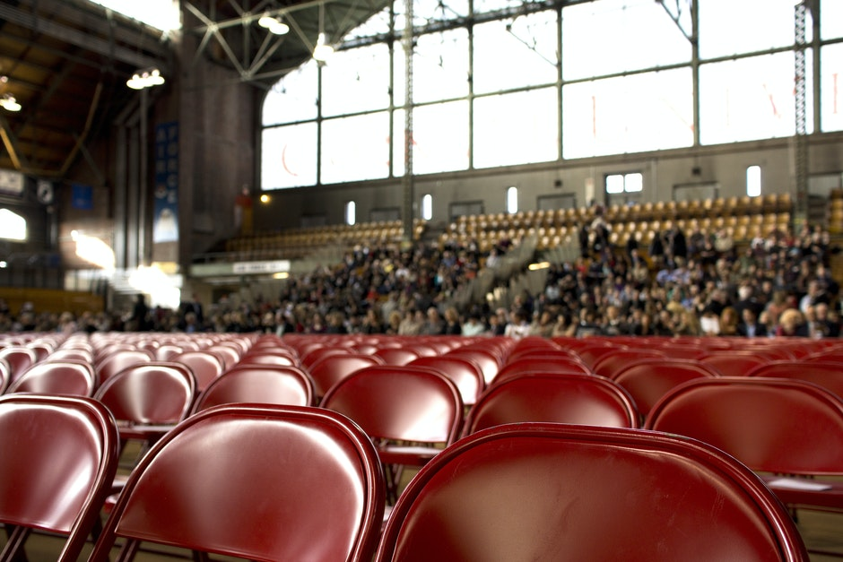 audience, chairs, crowd