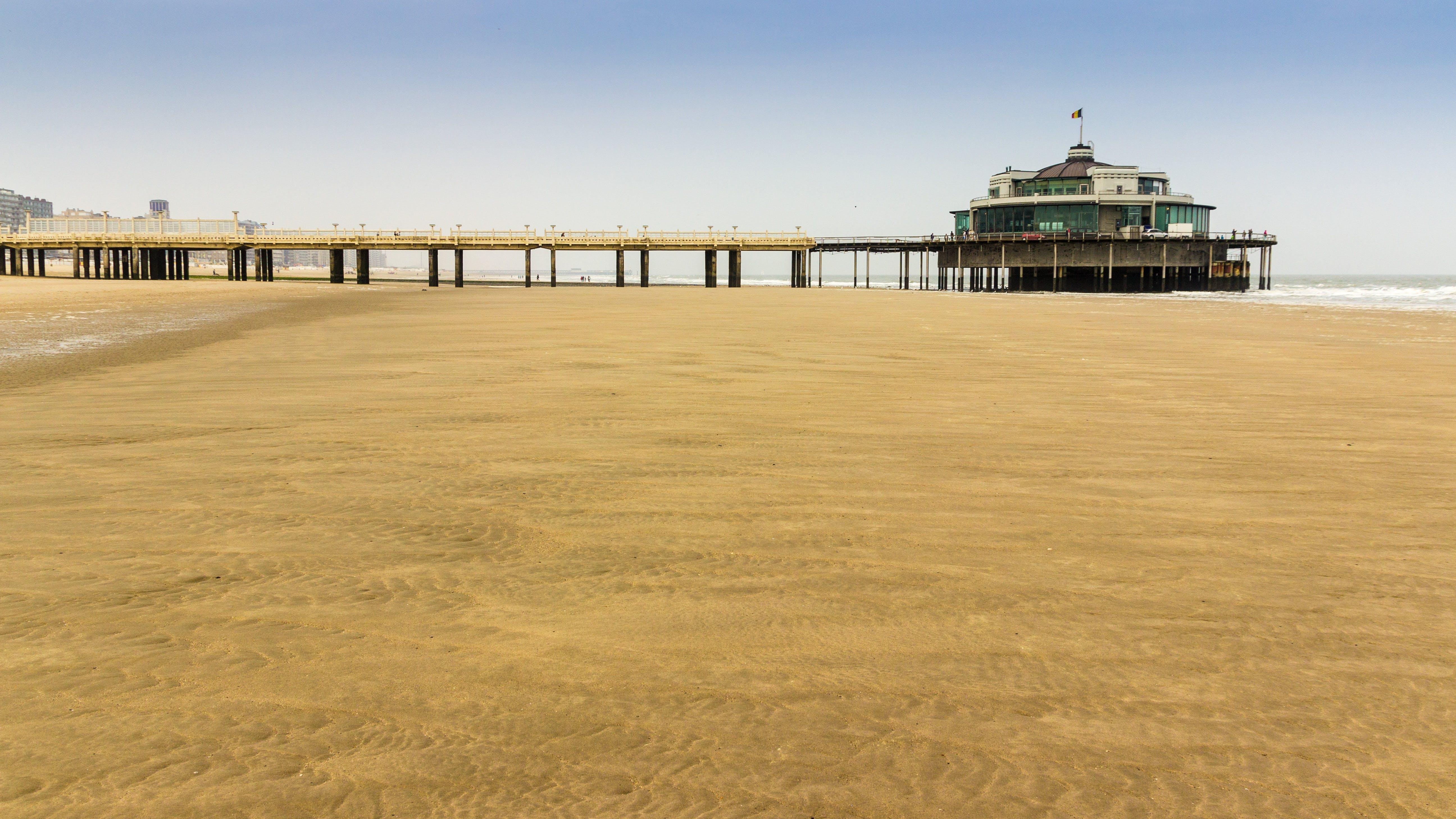 Free stock photo of beach, sand, North Sea, sea bridge