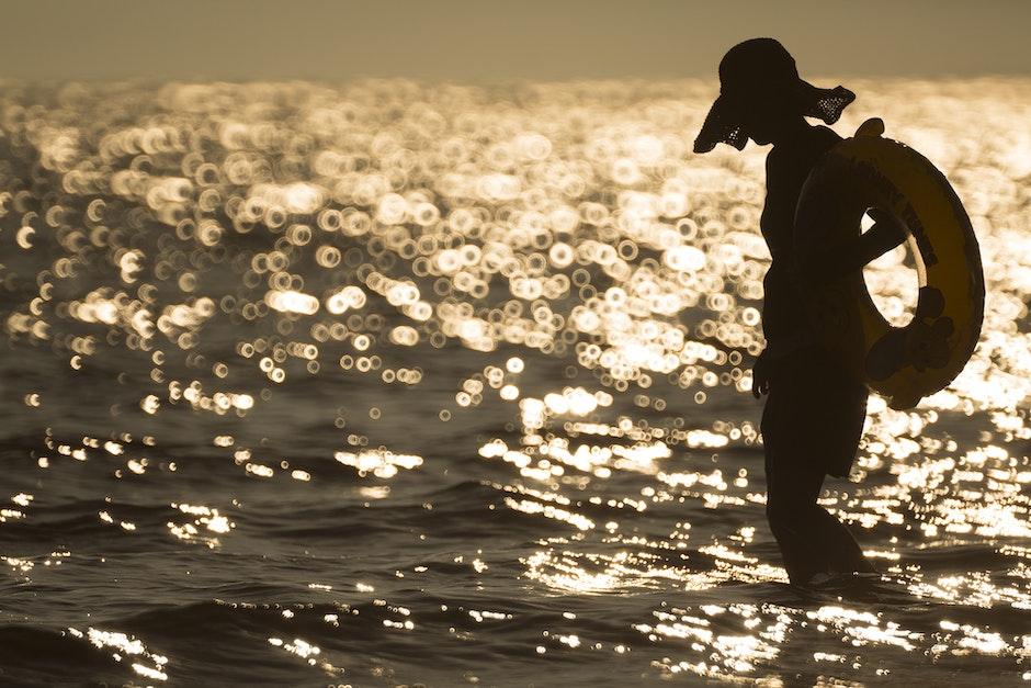 beach, girl, ocean