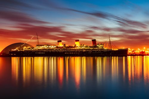 View Of Cruise Ship At Night