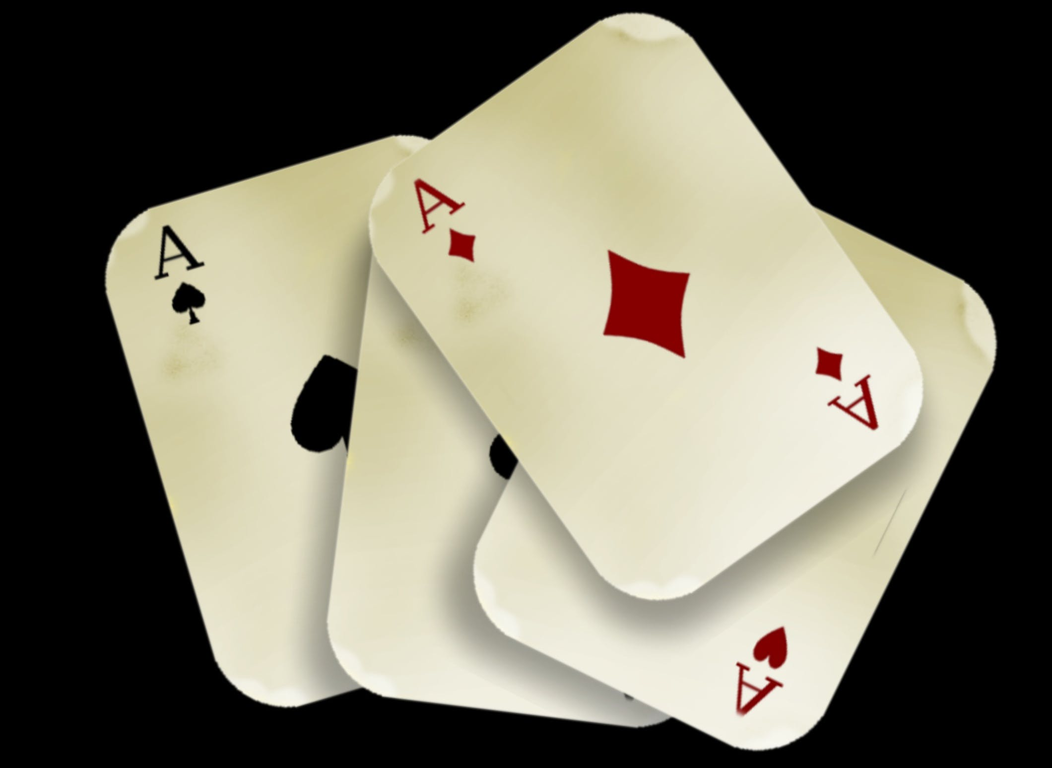 Four Aces Playing Carsd