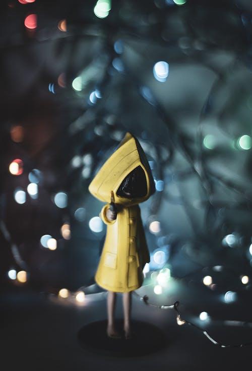 Foto profissional grátis de amarelo, bokeh, cinza, cordão de lâmpadas