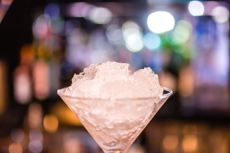 Shallow Shot of Martini Glass