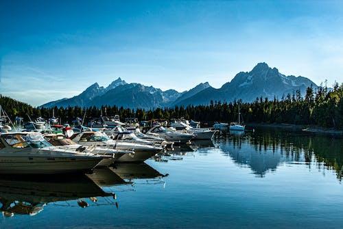 Photos gratuites de bateaux, jackson hole whyoming, montagnes, naviguer