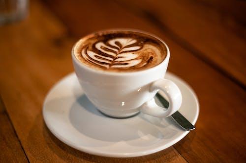 Free stock photo of brown, caffeine, coffee machine, latte art