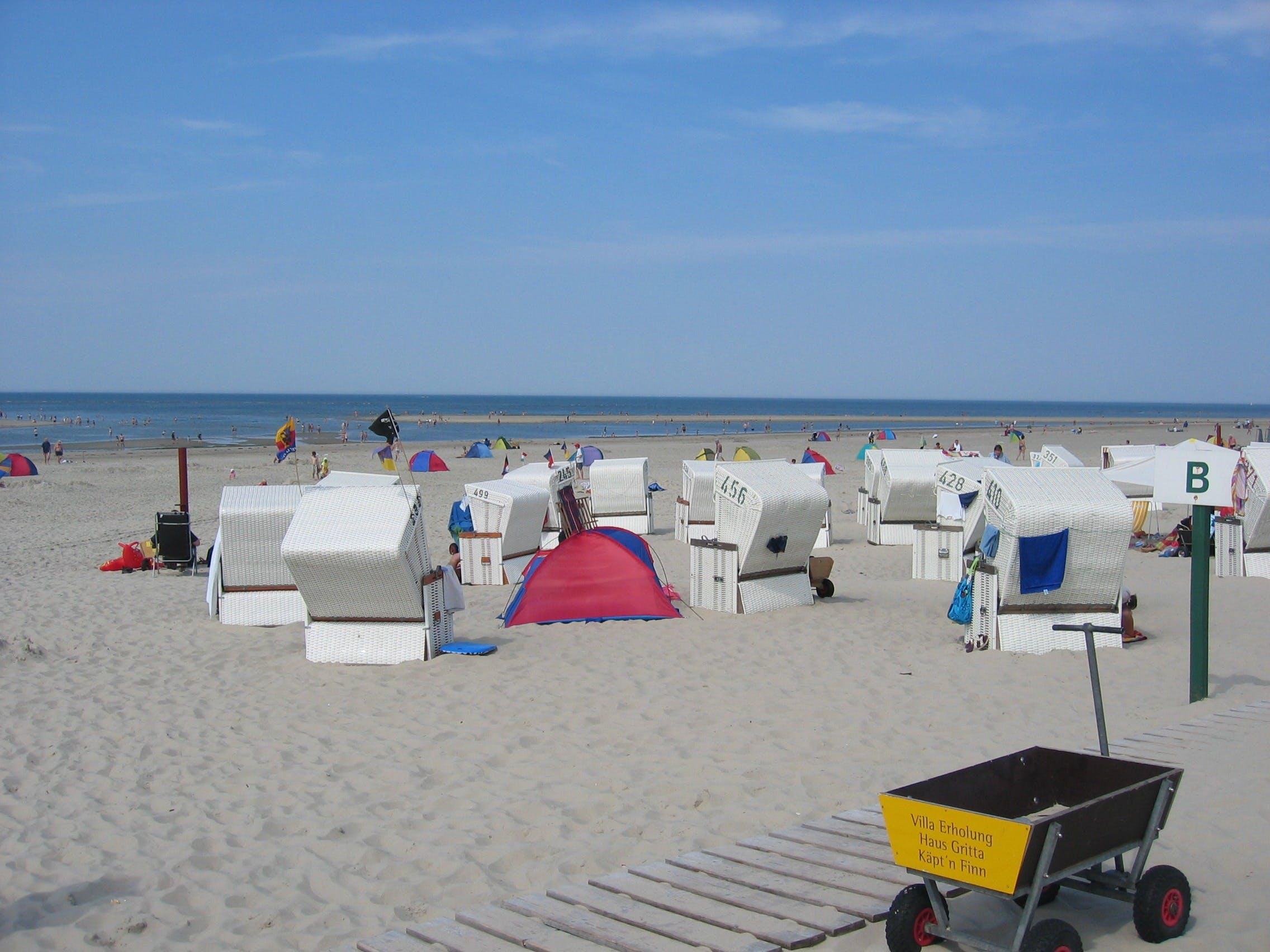 Free stock photo of beach, sand, North Sea, clubs