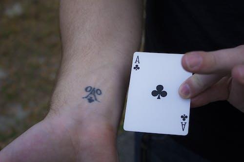 Photos gratuites de ace, carte, chance, homme