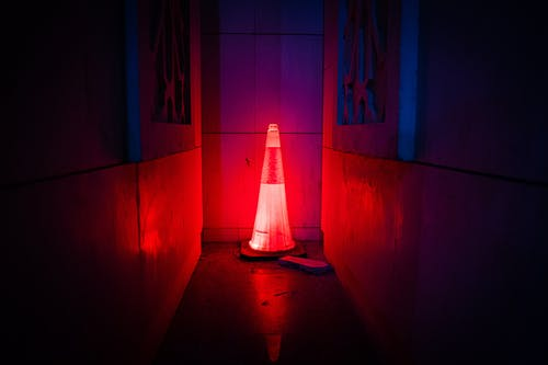 Red Led Traffic Cone