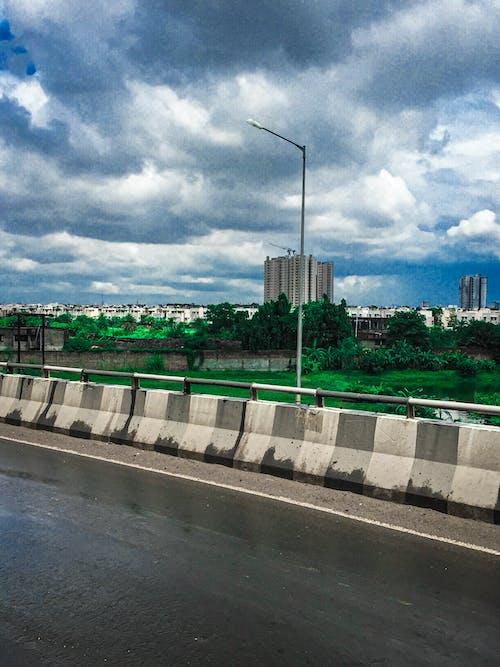 Free stock photo of cloudy sky, kolkata, roadside