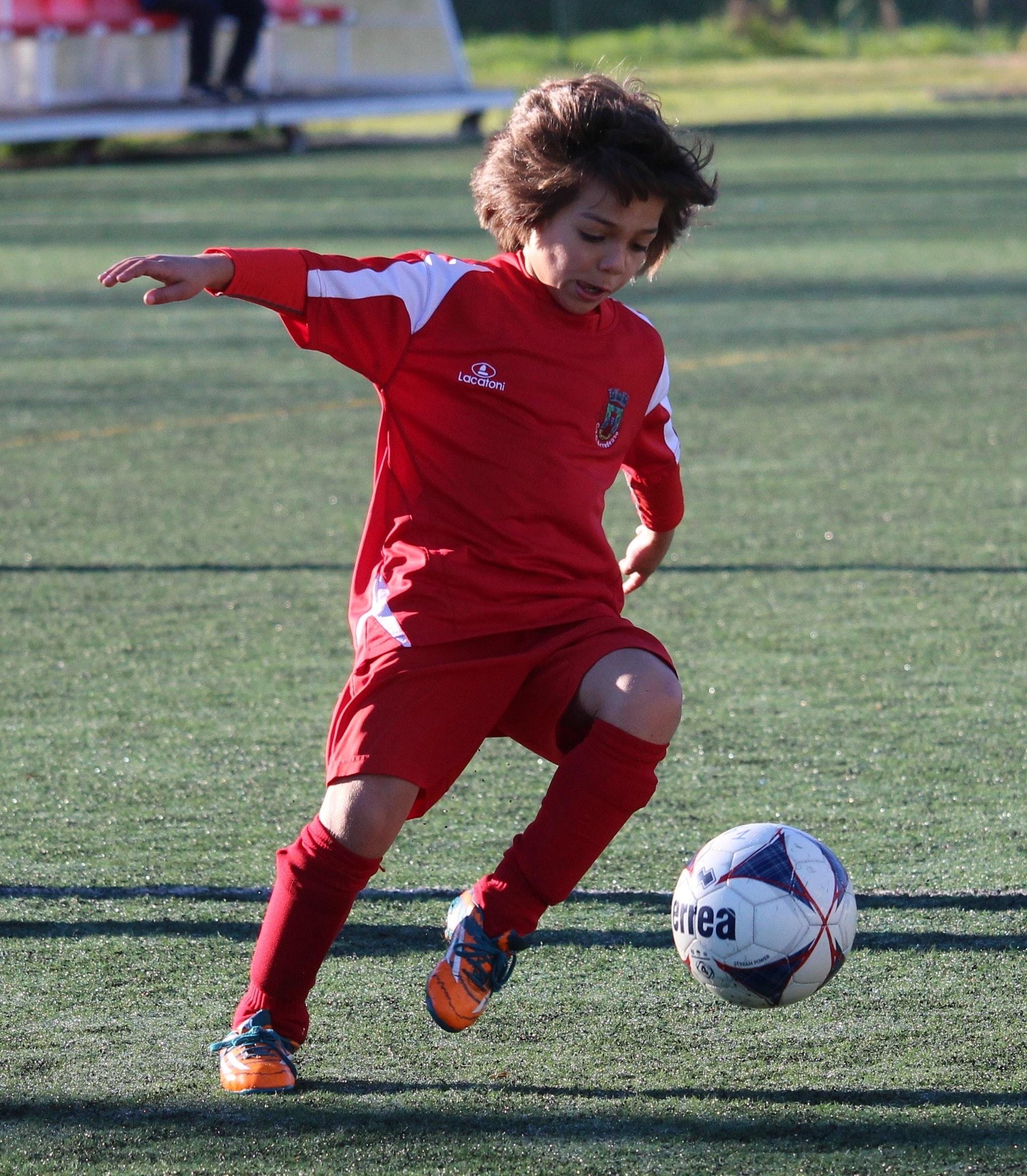 free stock photo of child football play