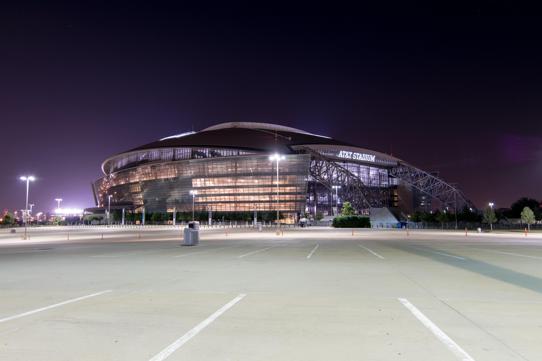 Gray Arena during Night