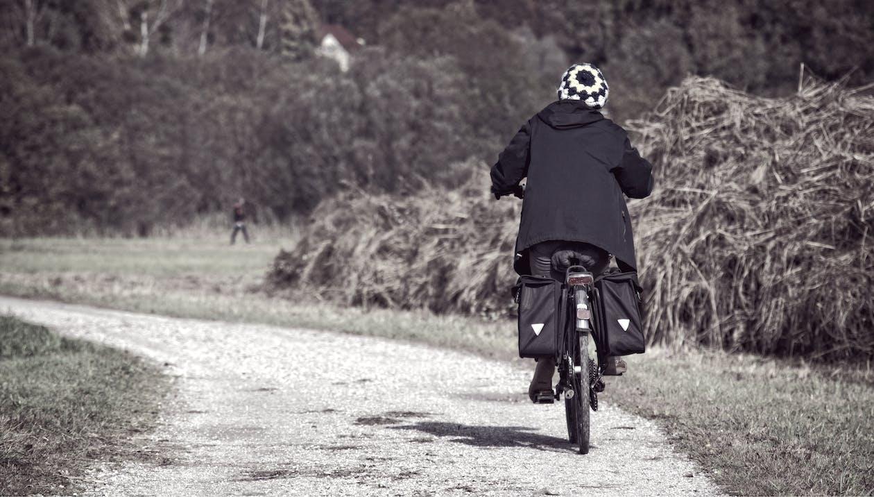 acció, adult, anant amb bici