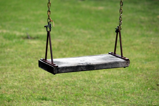 Free stock photo of grass, park, chain, swing