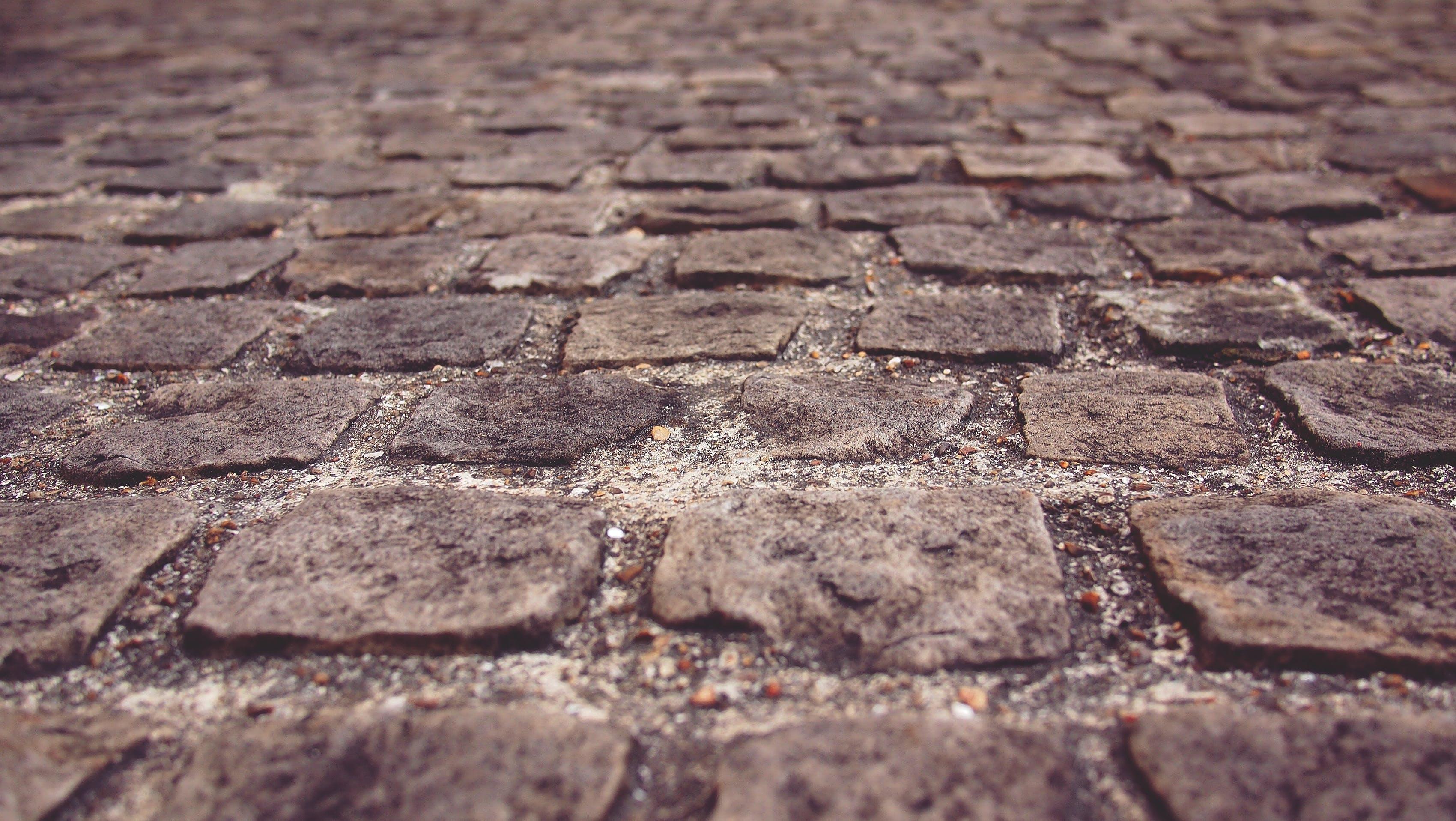 Brown Brick Surface Wallpaper