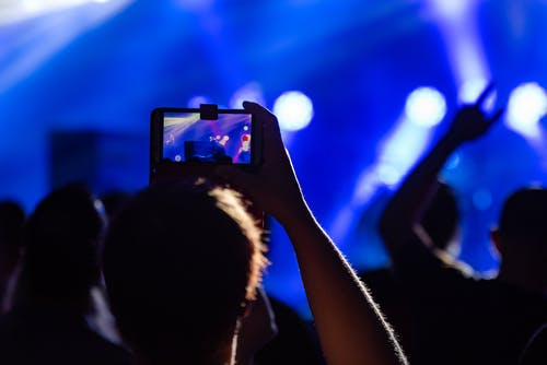 Free stock photo of audience, band, cell phone, concert