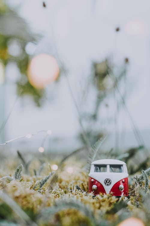 Red and White Volkswagen Beetle Miniature