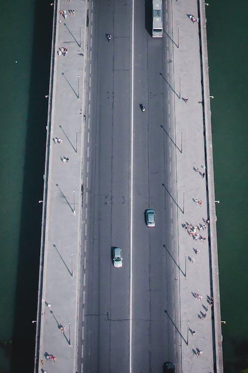 ドローン, パリ, ブリッジ, 車の無料の写真素材
