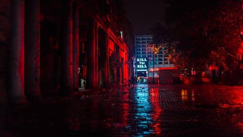 Gratis lagerfoto af aften, arkitektur, belyst, bygninger