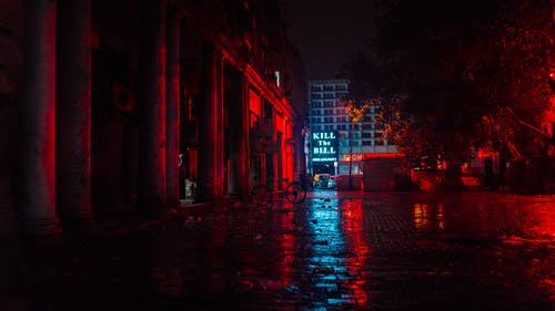 Gratis stockfoto met architectuur, avond, belicht, donker