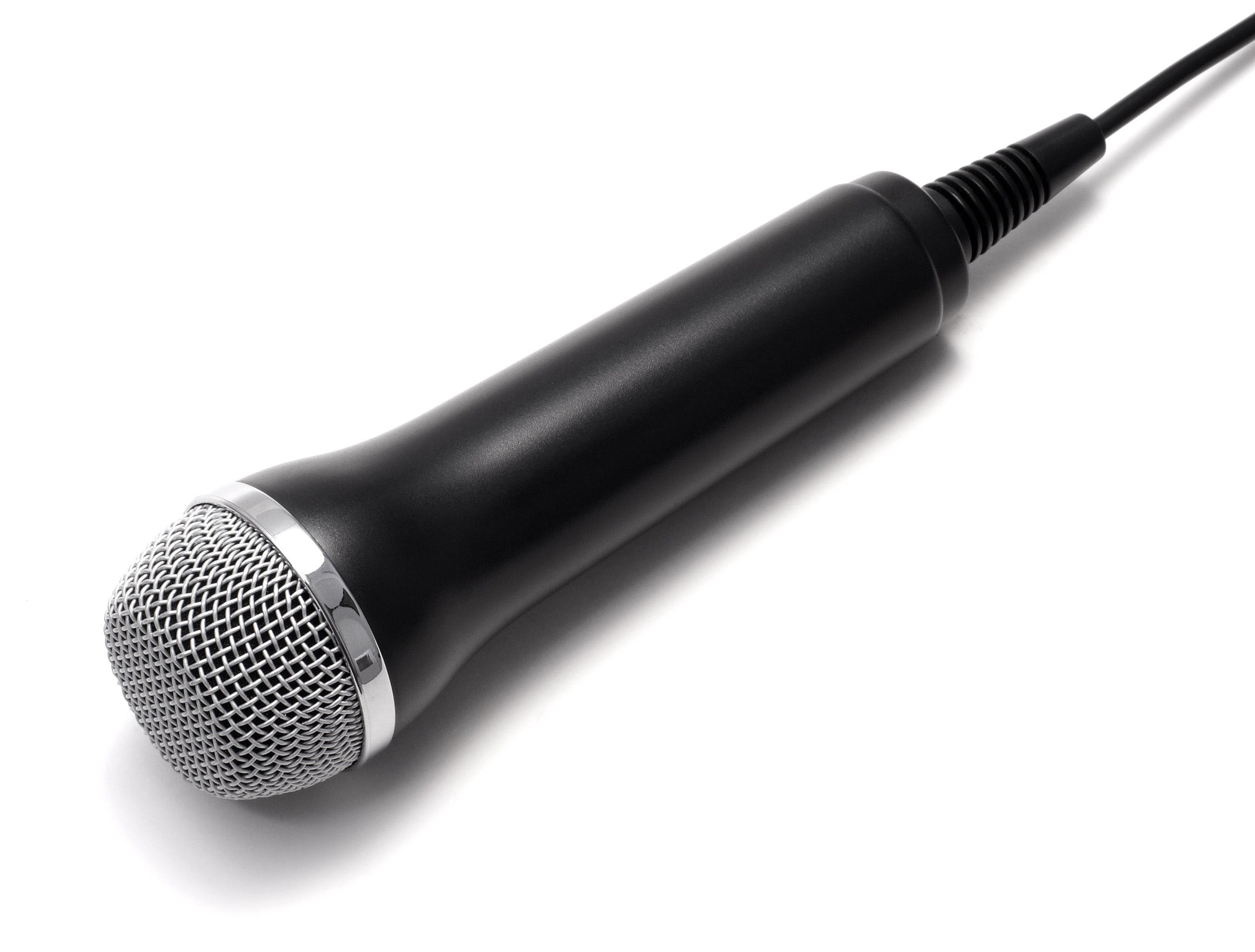 Black and Grey Corded Microphone