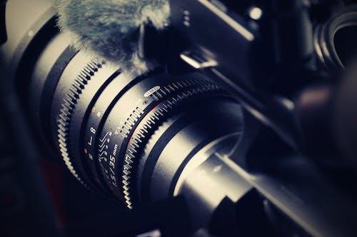 Fotobanka sbezplatnými fotkami na tému detailný záber, elektronika, fotoaparát, objektív