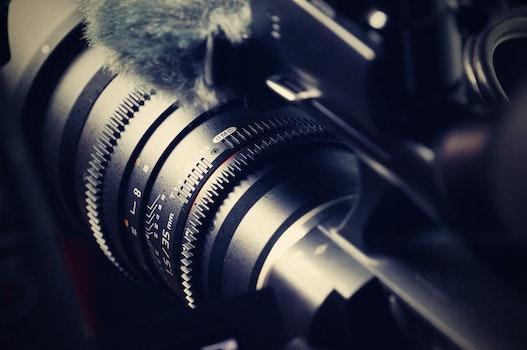 Free stock photo of camera, lens, equipment, close-up