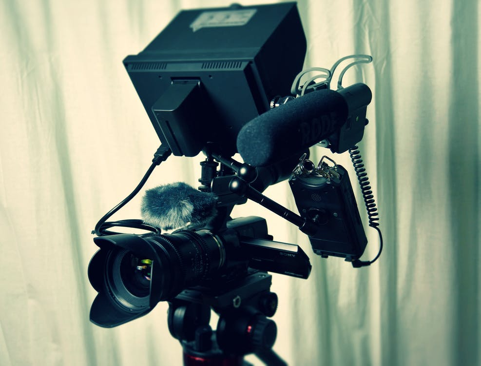 Black Camera With Microphone