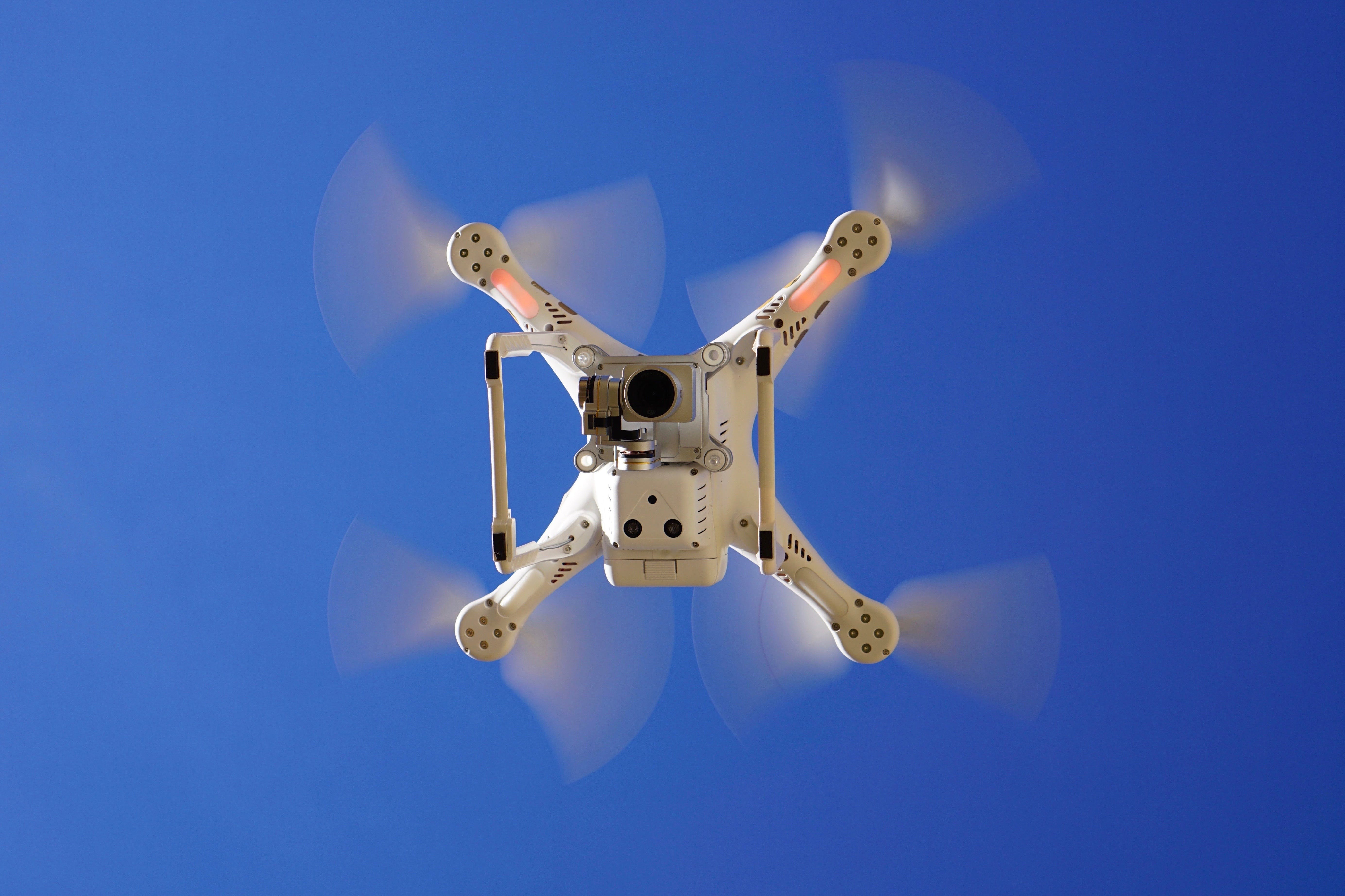 Low Angle View Photography of Drone