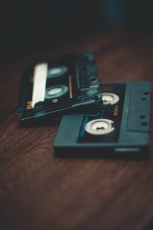 Close-Up Photo of Two Cassette Tapes