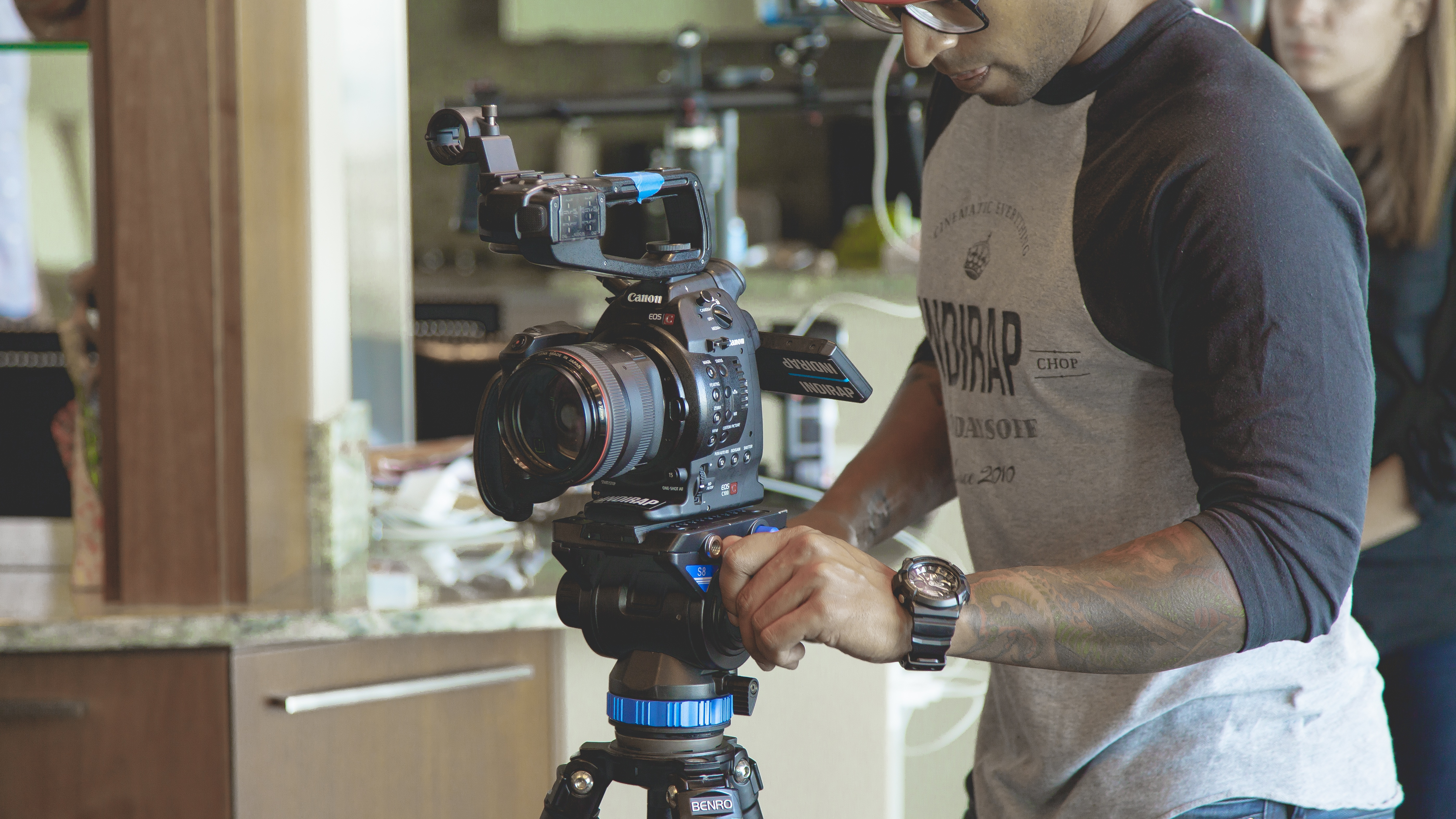 Free stock photo of man, camera, industry, photography
