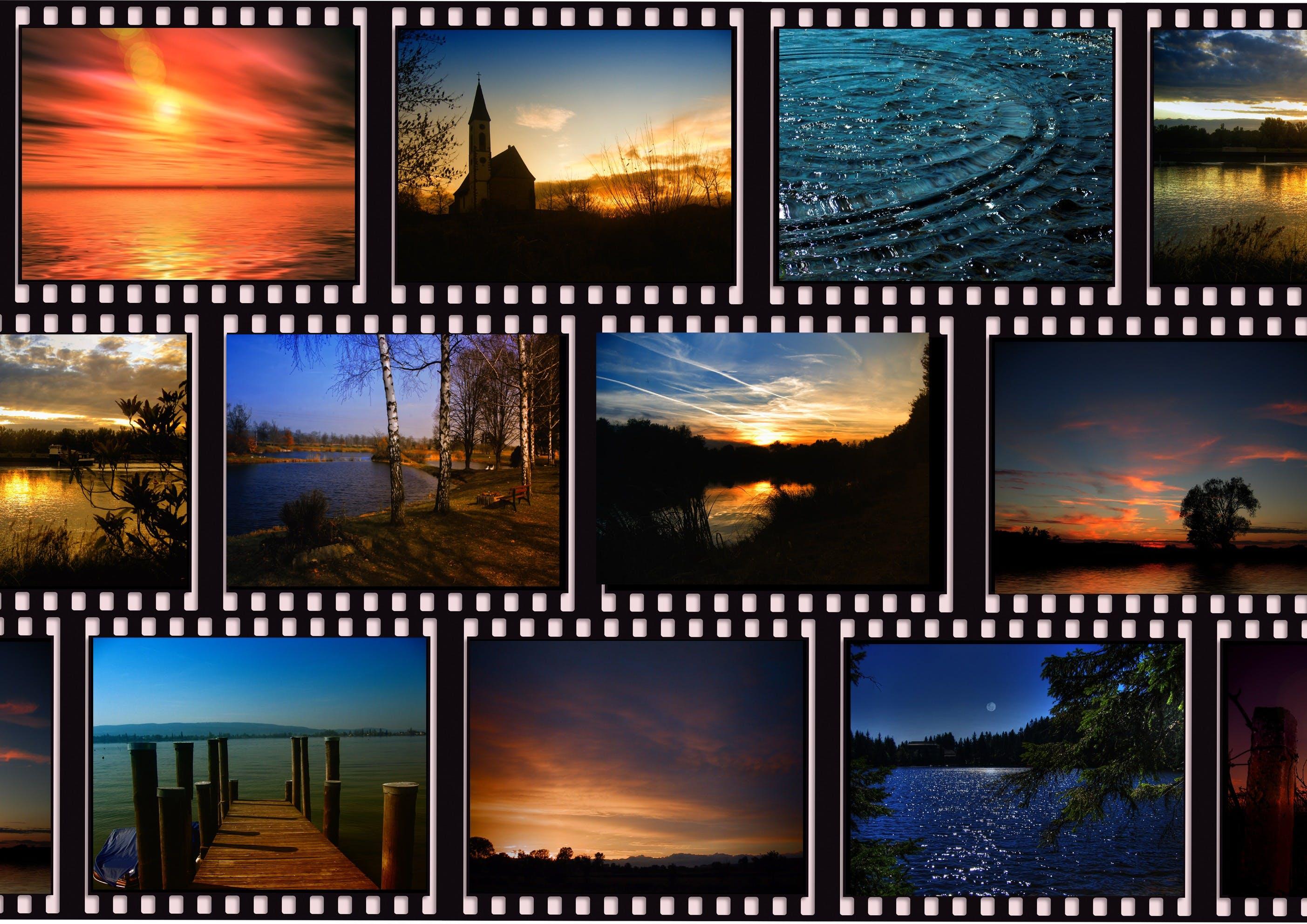 Free stock photo of landscape, camera, stripes, black