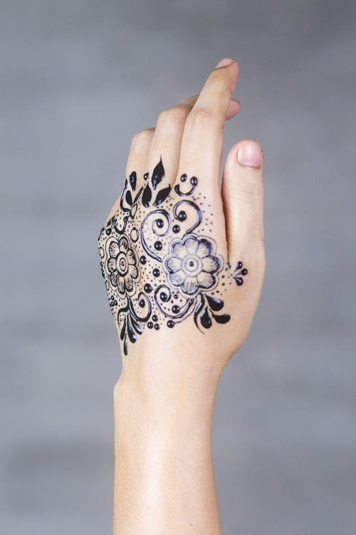 Picture Of Hand With Mehndi Tattoo