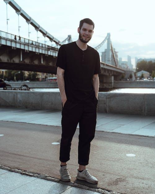 Man In Black Crew-neck Shirt