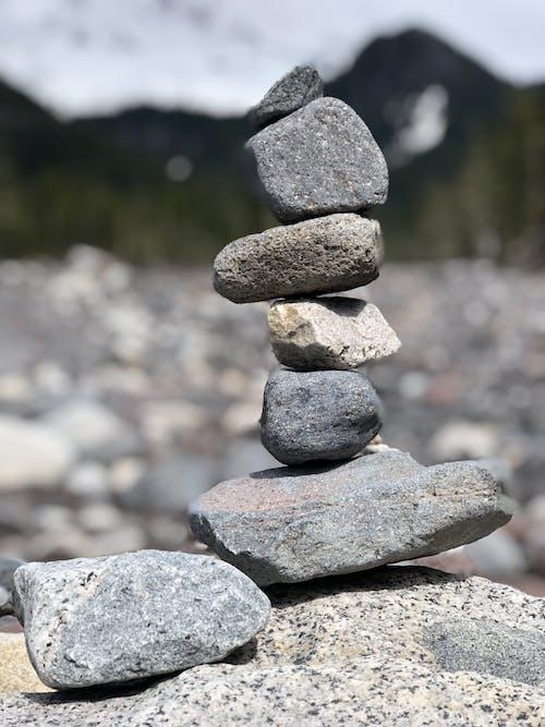 岩石, 河, 石堆, 石头平衡 的 免费素材照片