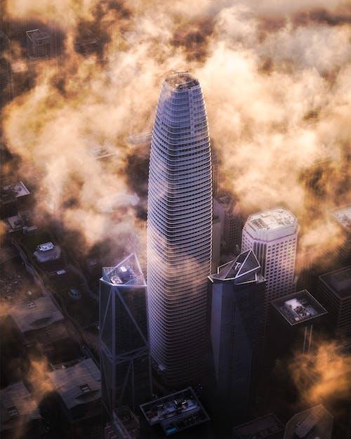 Ảnh lưu trữ miễn phí về các tòa nhà, cảnh quan thành phố, cao, chụp ảnh bằng máy bay không người lái