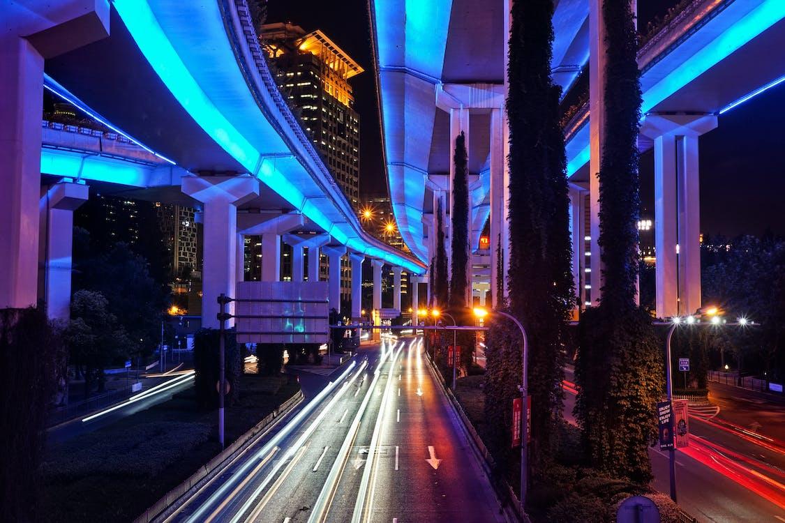 albastru, arhitectură, asfalt