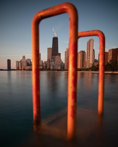 H2O, 강가, 강철, 건물의 무료 스톡 사진