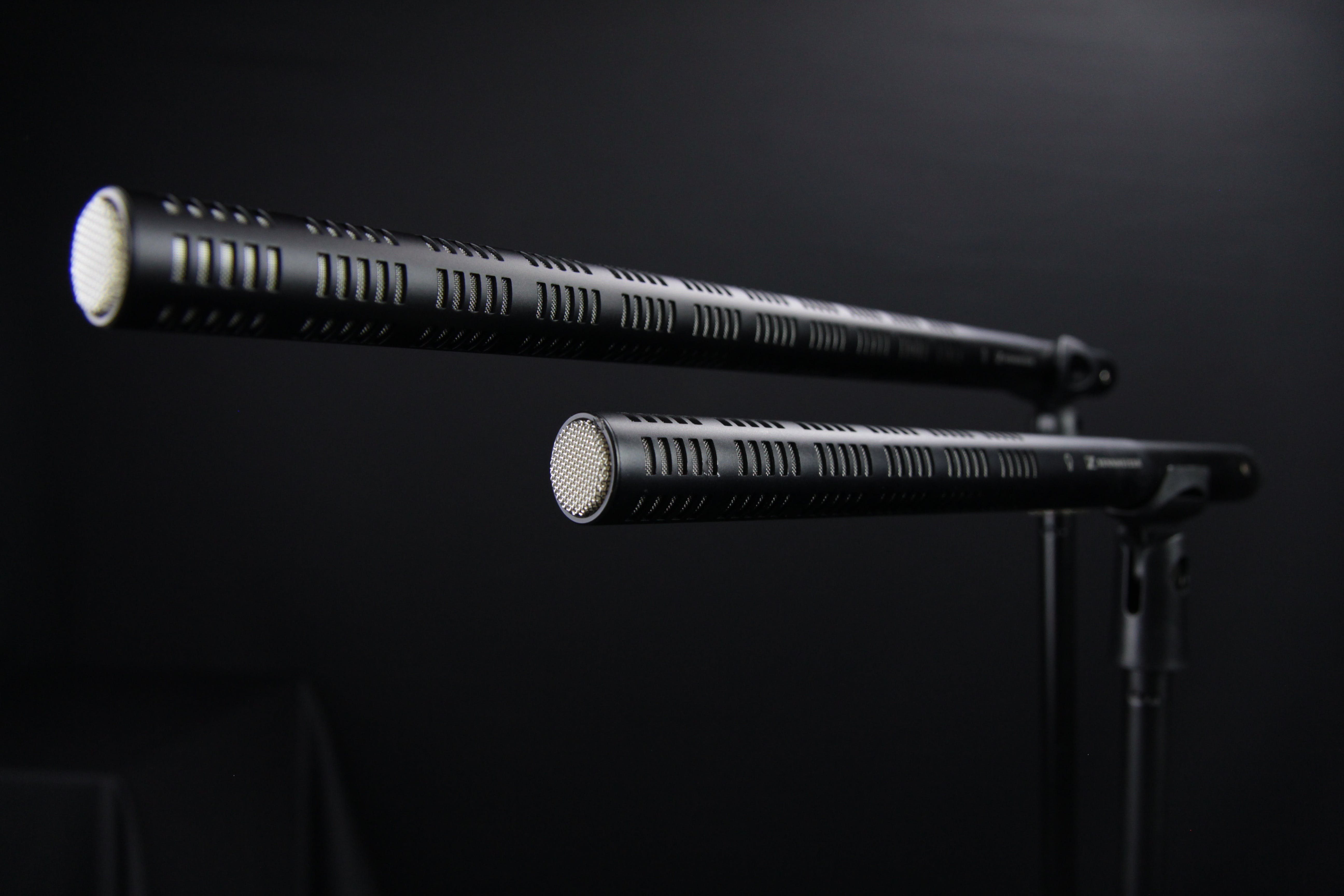Two Metal Rods Grayscale Photo