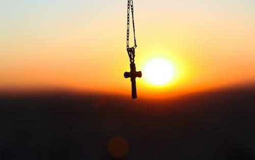 Foto stok gratis cruz, fe, iman, matahari terbenam