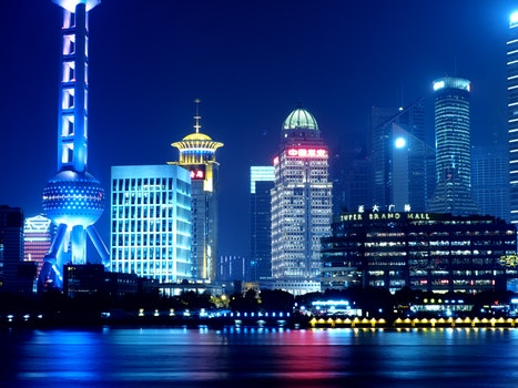 Free stock photo of city, landmark, water, skyline