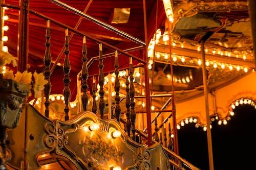Free stock photo of black, carousel, focus