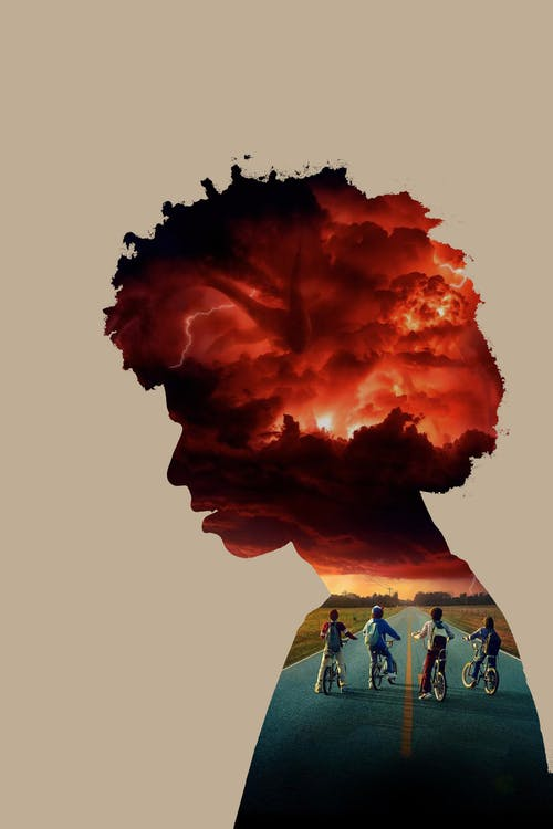 Free stock photo of afro hair, bike, double exposure, monster