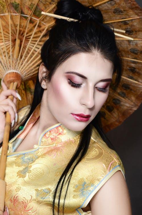 Gratis arkivbilde med geisha, øyesminke