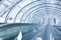 glass, tunnel, technology