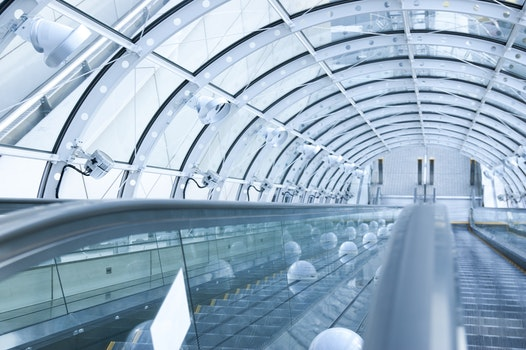 Free stock photo of glass, tunnel, technology, architecture