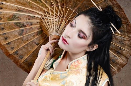 Бесплатное стоковое фото с гейша, макияж глаз, художественная студия
